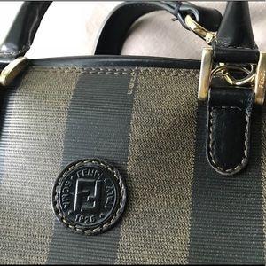 Fendi authentic pequin stripe cross body handbag